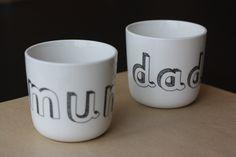 Bonton x Liebe - Mugs Mum + Dad