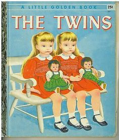1st edition Eloise Wilkin  Little Golden Book Twins 1955