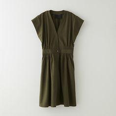 SILK NOIL WRAP DRESS