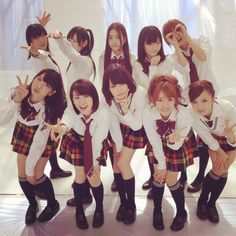 Group shot of members in the Pucho CM #AKB48
