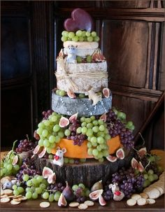 Cheese Wedding cake - love the mice! Couture Wedding Cakes for Stamford, Peterborough, Lincolnshire