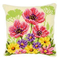 Набор  для вышивания крестиком подушки VERVACO Цветы. Весна  Вервако PN-0143708