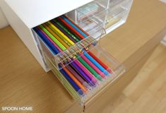 ニトリのレターケース9個引き出しの収納ブログ画像 Home Organization, Organizing, Office Supplies, Organizing Tips