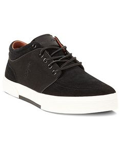 more photos 6d478 23809 Polo Ralph Lauren Shoes, Faxon Mid II Suede Shoes - Mens Fashion Sneakers -  Macy s