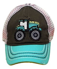 eab660860a9 Take a look at this Jungle Green Tractor Trucker Hat today! Toddler Trucker  Hats