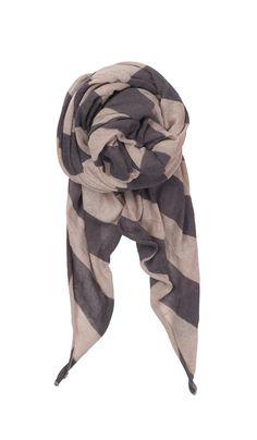 Twisted stripe scarf smokey