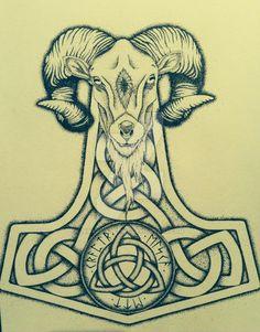 Mjolnir Tattoo Design by NirvanaOfTime.deviantart.com on @DeviantArt