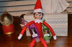 #HealthyElf has a way to fight cold and flu season.  Elf on the Shelf Ideas: catch your elf being healthy and tag with #HealthyElf.