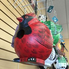 Add a fun and colorful addition to your yard with Gord-O birdhouses. Patio Store, All Birds, Birdhouses, Backyard Patio, Outdoor Living, Spiderman, Colorful, Superhero, Fun