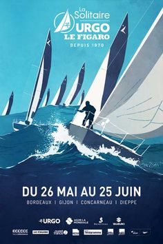 A moins de 4 mois du coup d'envoi de la 48e édition de La Solitaire URGO Le Figaro, 35 (...) Design Graphique, Art Graphique, All Poster, Poster Prints, Identity, Le Figaro, Graphic Art, Graphic Design, Boat Lift