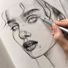 Sketches of people, art sketches, realistic drawings, my drawings, pencil d Pencil Art Drawings, Realistic Drawings, Art Drawings Sketches, Cute Drawings, Sketch Art, Art Du Croquis, Arte Sketchbook, Drawing People, Aesthetic Art