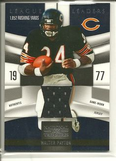 SOLD - WALTER PAYTON Game Used Jersey Card #87/99 Chicago Bears #ChicagoBears