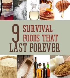 Survival Foods That Lasts Forever - Great to have for SHTF    Survival Recipes and Food Ideas for Prepping   Survival Life Blog : survivallife.com