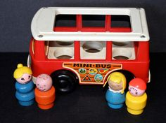 Fisher Price Mini Bus #141 with Little People by SmilingMemories on Etsy