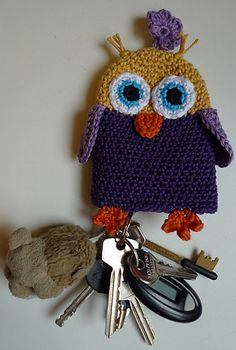 Ravelry: Project Gallery for Owl keychain pattern by Susanne Madsen