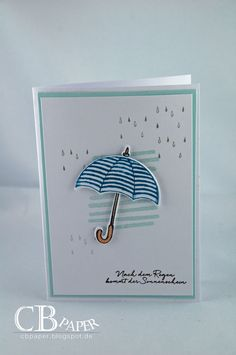 CB Paper. No. 64 head high card .... after rain - SU - Weather Together, Umbrella Weather Framelits