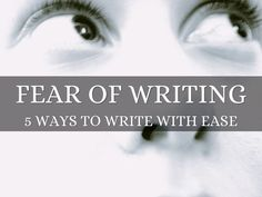 """Fear of Writing: 5 Ways to Write With Ease"" - A Haiku Deck by Angela Booth: If you need to write, and avoid it, these tips will help. They're for business writers, bloggers, and authors. They'll help you to write ads, and books. Stop procrastinating, and get over your fear of writing today."