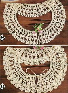 Image detail for -Free Crochet Collar Patterns ~ Free Crochet Patterns: Crochet Collar Pattern, Crochet Lace Collar, Gilet Crochet, Crochet Yoke, Thread Crochet, Crochet Scarves, Free Crochet, Blog Crochet, Crochet Vintage