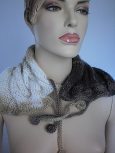 Knit scarf Knit cowl Hand Knitted Multicolor Cowl от levintovich