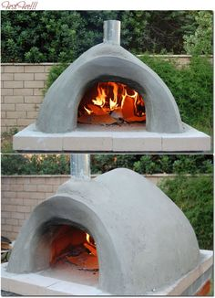 building brick and clay pizza / outdoor oven