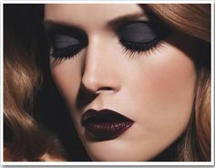 Vampy makeup from Chanel. Absolutely gorgeous!