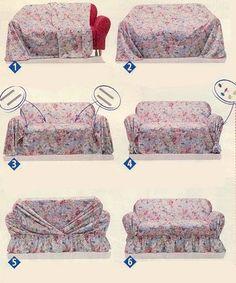 Варианты покрытия дивана чехлом