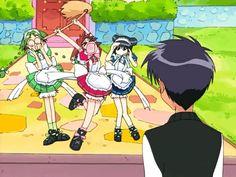 Retasu, Ichigo, Minto, and Masaya
