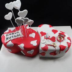 Nişan Pastammmmm :) İkiz Kalpler Nişan Pastası