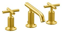 Purist widespread lavatory faucet, vibrant moderne brushed gold, $853