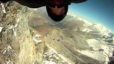 Joby Ogwyn, Jeb Corliss and Jeff Nebelkopf fly around the Matterhorn
