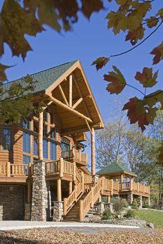 17 best Luxury Log Homes images on Pinterest   Log homes, Log cabin ...
