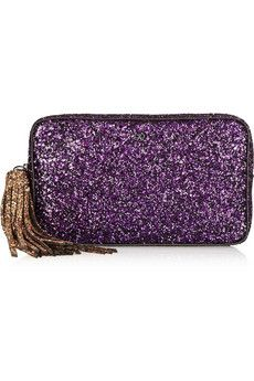 Anya Hindmarch | Twinkle glitter-finished clutch | 52% Off