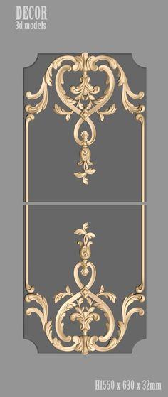 Decor Models For Cnc - ãœstad Cengiz Bodur - on Home Decor Ideas 6487 Diy Furniture Plans, Painted Furniture, Interior Walls, Home Interior Design, Door Design, Wall Design, Wall Molding, Moldings, 3d Cnc