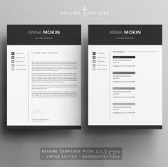|| PROMO CODE: 2 resumes for 25$ USD, use code 2PLEASE || Welcome to the Resume Boutique! We create templates that help you make a lasting impression when applying for your dream career. We aim for sophistication and elegance with a modern twist, combined with a thoughtful design with plenty of space for all your text content. ▬▬▬▬▬▬▬▬▬▬▬▬▬▬▬▬▬▬▬▬▬▬▬ Download this file for a professionally designed and easy to customize 2 PAGE resume (with an extra bonus +1 resume page for additional work…