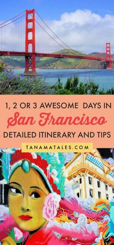 How to spend 1, 2 or 3 days in #SanFrancisco - Travel tips and vacation ideas - If you are looking for things to do in San Francisco, what about having all those things organized on an awesome itinerary?  My detailed itinerary for San Francisco give you ideas on what to do for 1, 2, 3 or more days.  This itinerary is great for first-time and repeating visitors.  #California #roadtrip #weekendgetaway Usa Travel Guide, Travel Usa, Travel Guides, Travel Tips, Travel Articles, Solo Travel, San Francisco Travel, California Travel, Southern California