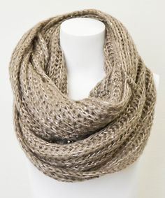 Knit sequin infinity scarf