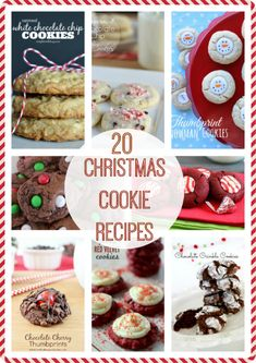 20 delicious cookie recipes for Christmas!