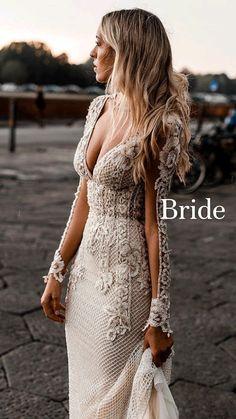 Wedding Dress Sleeves, Long Wedding Dresses, Boho Wedding Dress, Wedding Attire, Bridal Dresses, Wedding Bride, Wedding Dress Sheath, Wedding Ideas, Lace Dresses