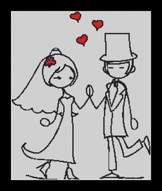 The First Dance wedding Cross Stitch Download by Lovethythreads, £4.00