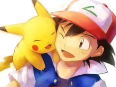 Ash and Pikachu! :3