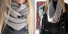 fun knitted GAP-tastic cowl | the knitting space