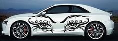 Eyes Sexy Tribal CAR Vinyl for 2 Sides Graphics Decals Any Car 7825