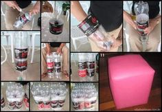 Imagem de recicle, diy, and tutorial Recycled Crafts, Diy And Crafts, Voss Bottle, Water Bottle, Diy General, Diy Plastic Bottle, Ways To Recycle, Recycled Bottles, Diy Stuffed Animals