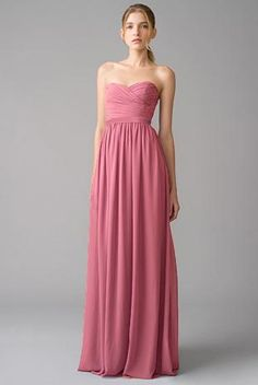 bridesmaids dress in dusty rose