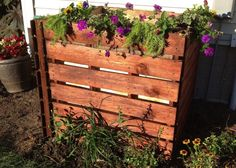 How to Build a Compost Bin - Bob Vila...not interested in doing the planter on top, just the bin
