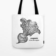 Vegan Organic Tote Bag   The Ahimsa Project   www.society6.com/theahimsaproject