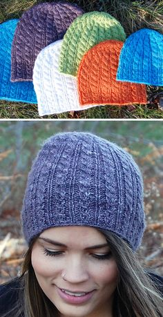 Free until May 2020 Knitting Pattern for Blomidon Hiking Hat sizes Newborn to Adult - This cabled beanie is worked completely in the round in DK weight yarn for sizes Newborn to Adult. Beanie Knitting Patterns Free, Knitting Machine Patterns, Knitting Designs, Knitting Projects, Free Knitting, Easy Knit Hat, Knitted Hats, Knit Or Crochet, Crochet Hats