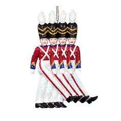 Kurt Adler Rockette Soldiers Ornament, 6"