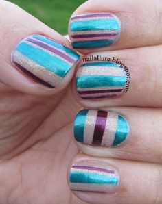 26 Adorable and Creative Nail Art Ideas with Stripes