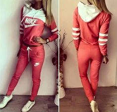 Tracksuit sports wear orange - studio w Sporty Outfits, Pink Outfits, Athletic Outfits, Swag Outfits, Mode Outfits, Fashion Outfits, Tennis Outfits, New School Hip Hop, Sweatpants Outfit